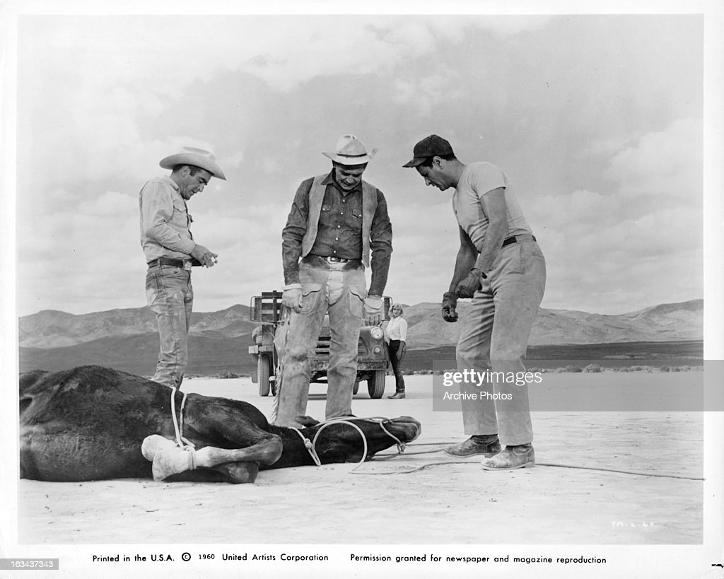 Montgomery Clift And Clark Gable In 'The Misfits' : News Photo