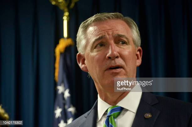 Montgomery County District Attorney Kevin Steele Kevin Steele speaks to the press on September 25 2018 in Norristown Pennsylvania after comedian Bill...