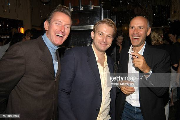 Montgomery Fraizer Ben Widdecombe and David Kuhn attend Odeon Celebrates 25 Year Anniversary at Odeon Restaurant on October 11 2005 in New York City
