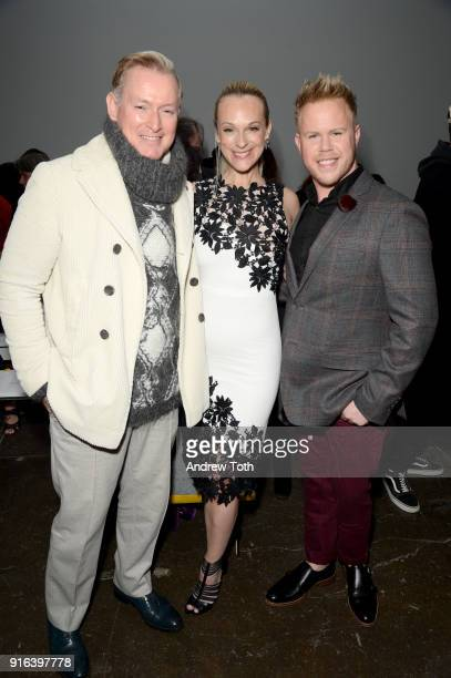 Montgomery Frazer Conseulo Vanderbilt Costin and Andrew Werner attends the Nicole Miller front row during New York Fashion Week The Shows at...