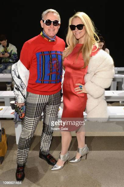 Montgomery Frazier and Consuelo Vanderbilt attend the Taoray Wang front row during New York Fashion Week The Shows at Gallery II at Spring Studios on...
