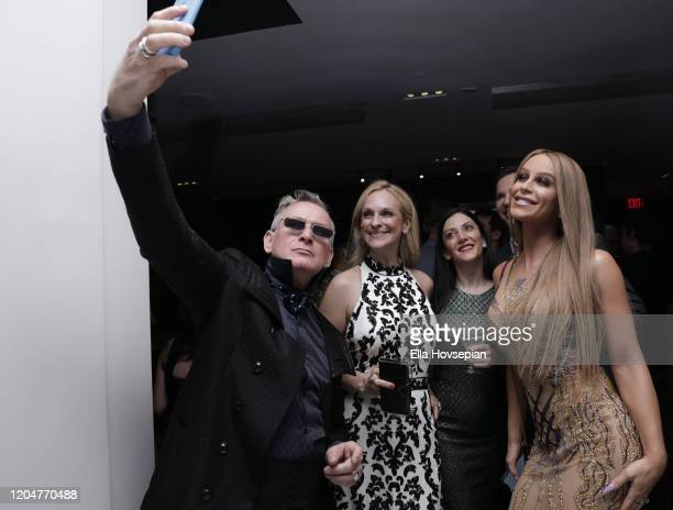 Montgomery Frazier Consuelo Vanderbilt Costin Gaia Melikian and Gigi Gorgeous at the LA Launch Event Of SohoMuse at Christopher Guy West Hollywood...