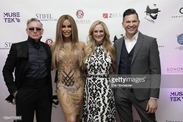 Montgomery Frazier Gigi Gorgeous Consuelo Vanderbilt Costin and Hank Stampfl at the LA Launch Event Of SohoMuse at Christopher Guy West Hollywood...