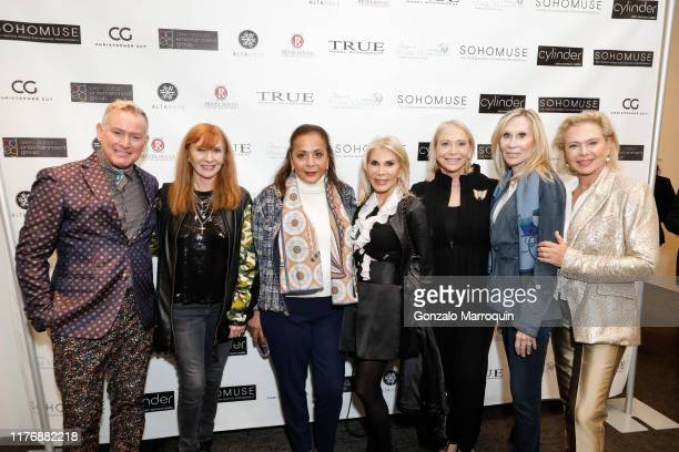 Montgomery Frazier Nicole Miller Nurit Kahane Andrea Warshaw Wernick Suzan Kremer Candice Stark and Pamela Morgan attend SohoMuse Launch at...