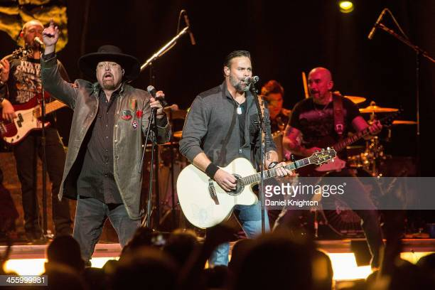 Montgomery Gentry performs at the KKGO Go Country 105 2013 Winter Fest Concert at Honda Center on December 12 2013 in Anaheim California