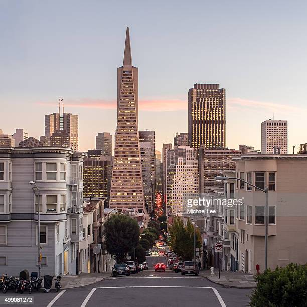 Montgomery Street Sunset View - San Francisco