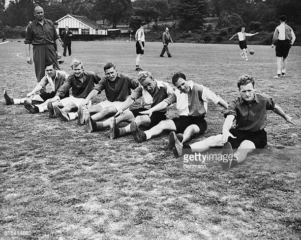 Month before being sent to Brazil to represent England in the World Cup, six members of the English soccer team train at Dulwich Hamlet's ground....