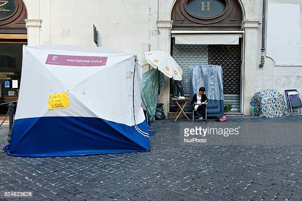 Month of protest in front of Montecitorio for ask the Stamina Cure. Photo: Massimo Valicchia/NurPhoto