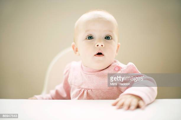 9 Month Old Baby Girl at Table