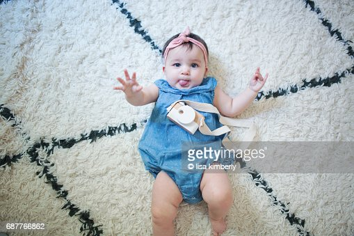 8 Month Old Boygirl Twins Stock Photo