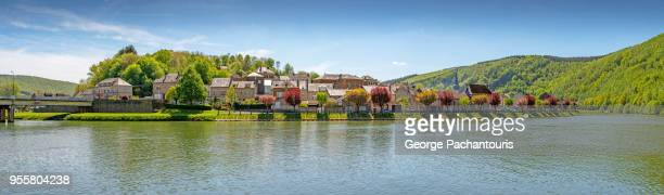 montherme village panorama, france - ardennes department france stock photos and pictures