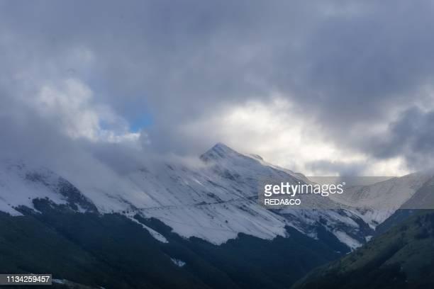 Monti Sibillini National Park View from Pintura di Bolognola Marche Italy Europe