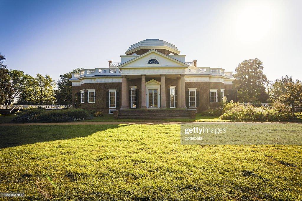 Monticello House Of Thomas Jefferson In Virginia Usa Stock Photo