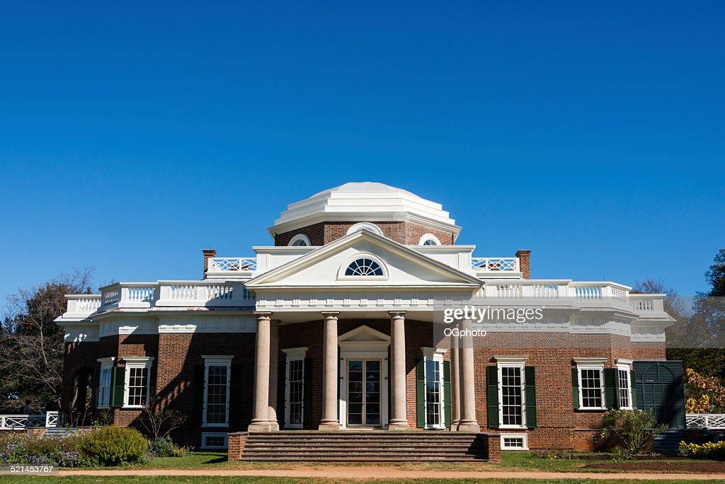Monticello in Charlottesville, Virginia : Stock Photo