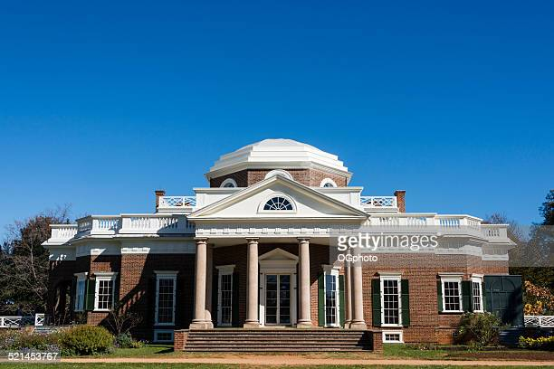 monticello in charlottesville, virginia - ogphoto stock photos and pictures