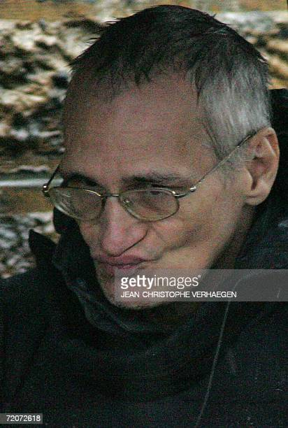 Convicted serial killer Francis Heaulme is pictured 03 October 2006 in MontignylesMetz Eastern France during a reenactment near railroad tracks where...