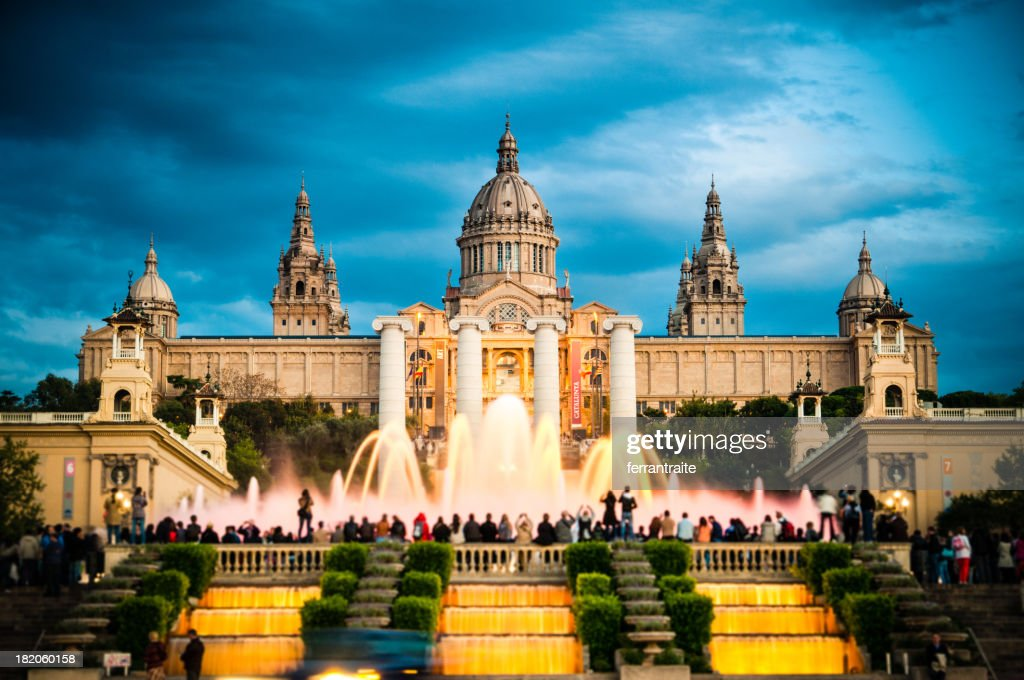 Montjuic Barcelona : Stock Photo