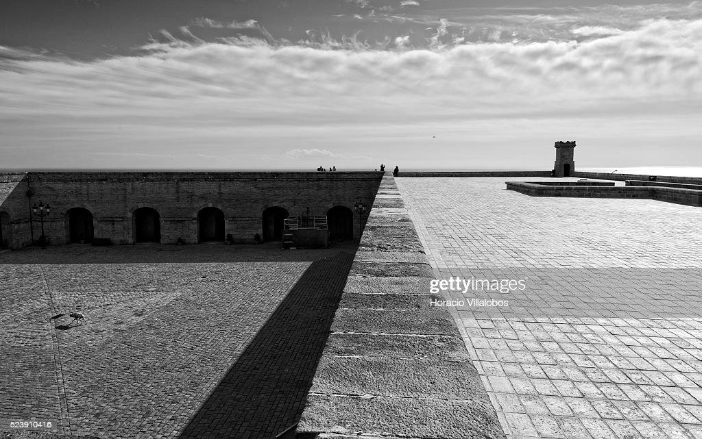 Montjuic Castle, Barcelona, Spain, 29 January 2014. The Castle Is An Old