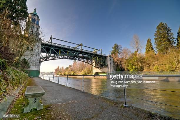 montlake cut bridge - university of washington stock pictures, royalty-free photos & images
