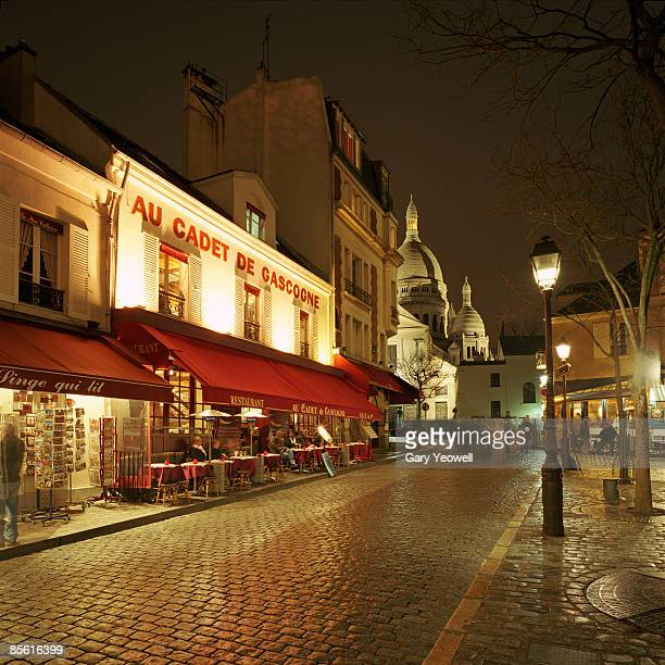 Montmartre District with Sacre-Coeur at night