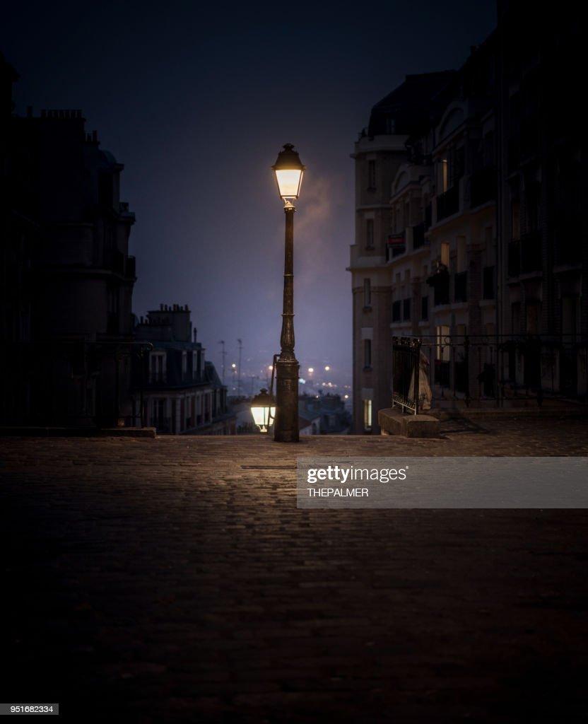 Montmartre lantaarnpaal Parijs : Stockfoto