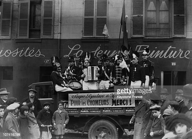 Montmartre Soup Kitchen For Unemployed In Paris On 1932