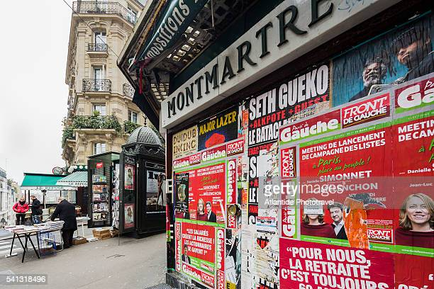 Montmartre, view near the entrance of Lamarck-Caulaincourt Metro (Underground) Station