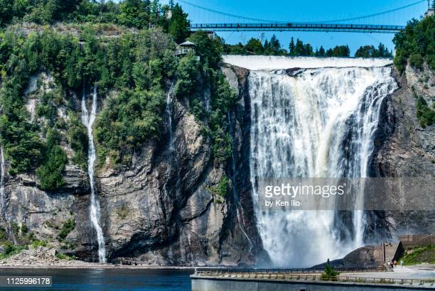 montmorency and satellite falls - ken ilio stock pictures, royalty-free photos & images