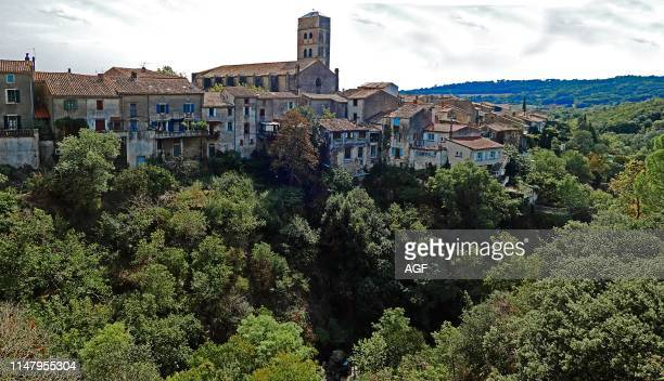 Montolieu known as Village Book with 15 bookstores old and new and the Museum of Arts and Crafts Book but its history is much older Aude Languedoc...