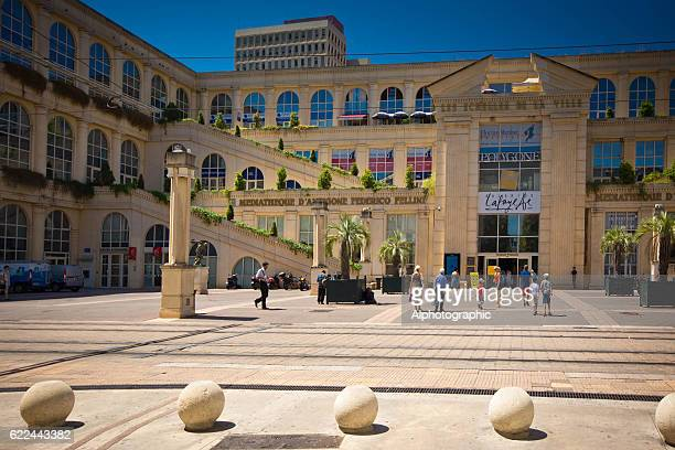 montpellier france - galeries lafayette paris stock photos and pictures