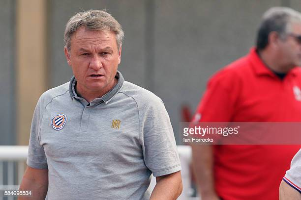 Montpellier manager Frederic Hantz the preseason friendly match between Sunderland AFC and Montpellier HSC at Stade Jacques Forestier on July 30 2016...