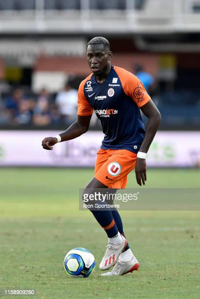 Montpellier midfielder Salomon Junior Sambia dribbles during the EA Sports Ligue 1 match between Montpellier HSC and AS St SaintEtienne July 18 2019...