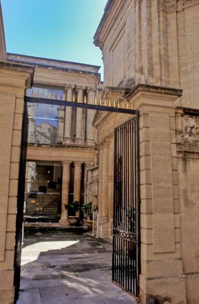 Montpellier, old CCI building in the historic city center