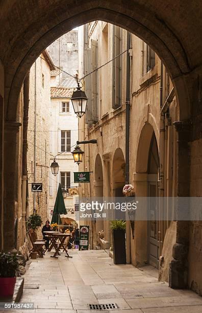 Montpellier old town, pedestrian shopping street