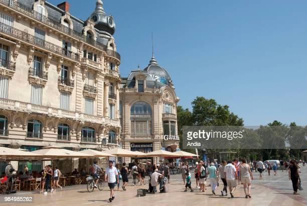 Montpellier : 'place de la Comedie' square in the city centre.