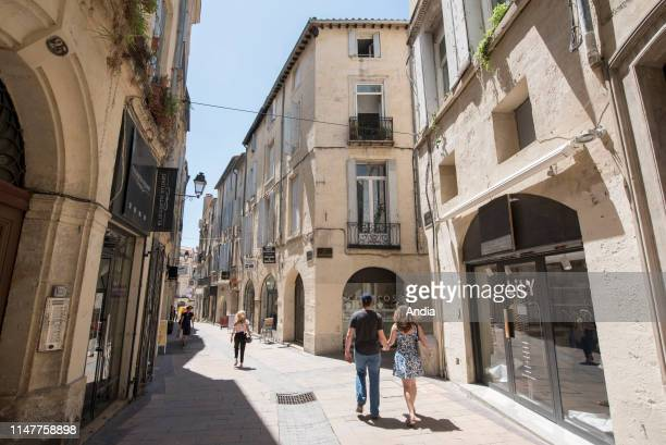 Montpellier : real estate in the city centre, ' rue de l'Argenterie', street, historical district of Ecusson.