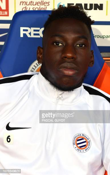 Montpellier's French midfielder Junior Sambia poses before the French L1 football match between Montpellier and Saint Etienne on August 25 2018 at...