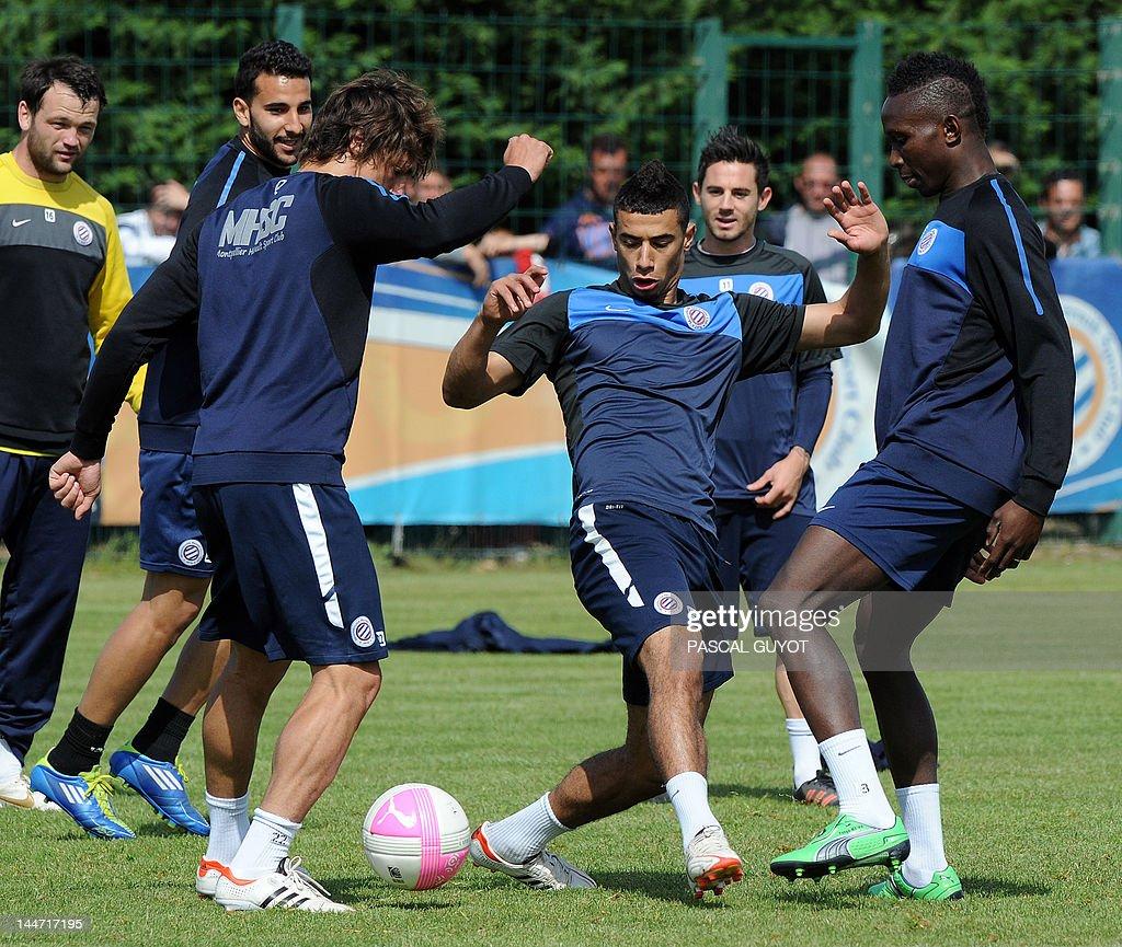 Montpellier's Moroccan midfielder Younes : News Photo