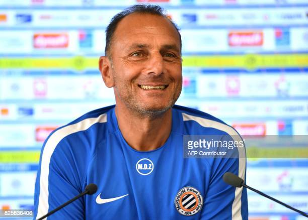 Montpellier's new French head coach Michel Der Zakarian addresses a press conference of French L1 football club Montpellier HSC at Grammont Stadium...