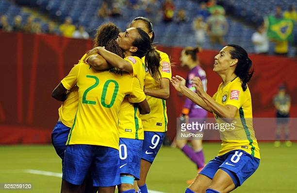 Montr��al Qc JUNE 092015 FIFA Women's World Cup Canada 2015 Group E match at the Olympic Stadium in Montreal between BRAZIL and Korea Republic Canada...