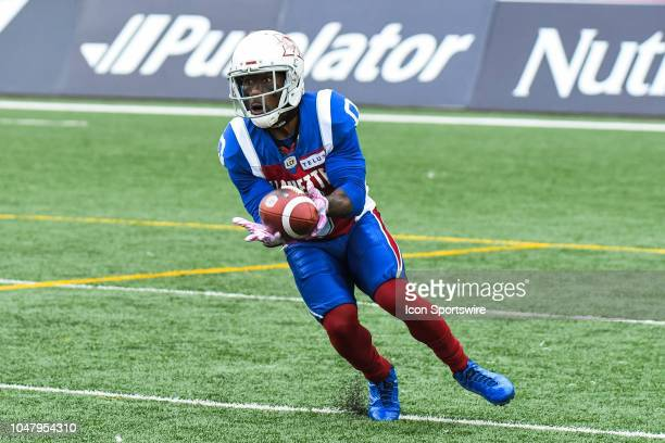Montreal Alouettes Running back Stefan Logan catches a punt during the Calgary Stampeders versus the Montreal Alouettes game on October 8 at Percival...
