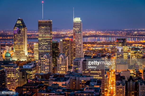 Montreal at Night Cityscape Quebec Canada