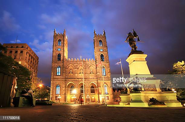 montreal basilica - vieux montréal stock pictures, royalty-free photos & images