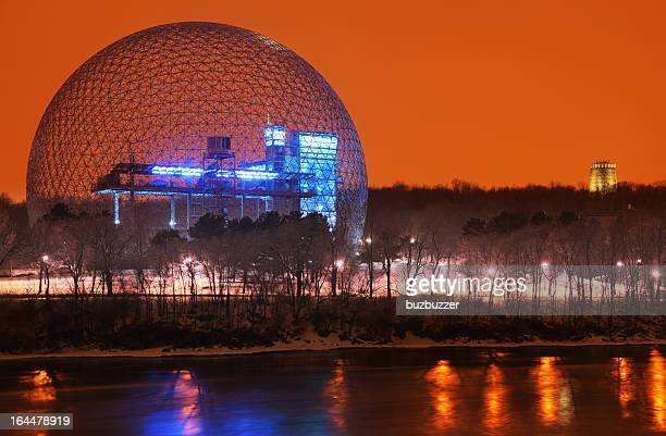 Montreal Biosphere at Night