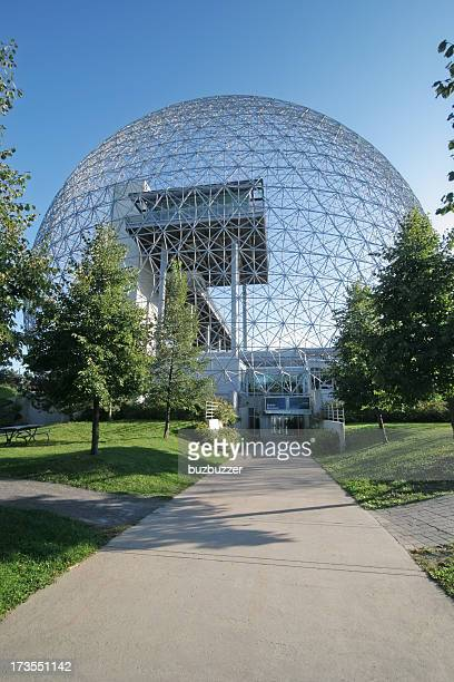 montreal biosphere museum entrance - international landmark stock pictures, royalty-free photos & images