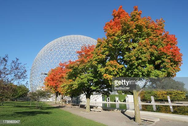 montreal biosphere park - buzbuzzer stock pictures, royalty-free photos & images