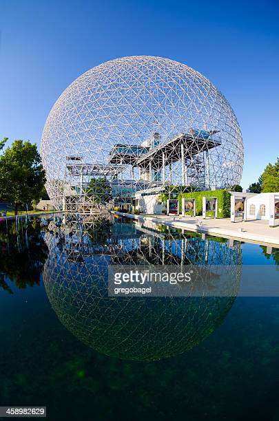 montreal biosphère on saint helen's island - dome stock pictures, royalty-free photos & images