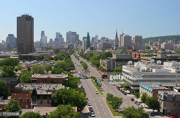 montreal boulevard - buzbuzzer stock pictures, royalty-free photos & images