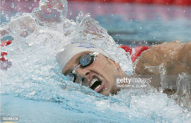 Massimiliano Rosolino of Italy swims in a preliminary heat of the Men's 800M Freestyle 26 July 2005 at the XI FINA Swimming World Championships at...