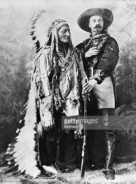 Sitting Bull and Buffalo Bill Cody Photograph ca 1880 Montreal Canada
